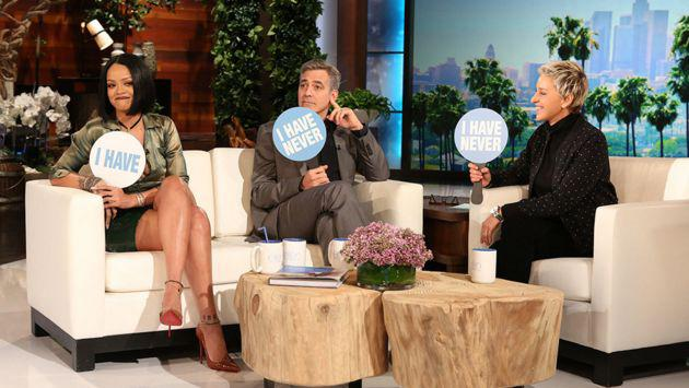 ¡Rihanna y George Clooney jugaron 'Yo nunca he...' en el show de Ellen Degeneres! [VIDEO]