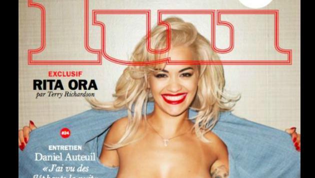 ¡Rita Ora sorpende con topless en portada de revista Lui!