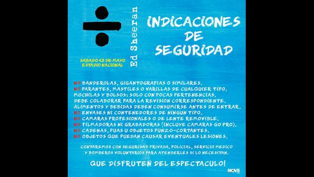Si vas al concierto de Ed Sheeran en Lima, ten en cuenta estas recomendaciones