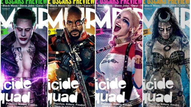 'Suicide Squad' en portadas de Empire: Joker, Harley Quinn, Deadshot y Enchantress como nunca los viste