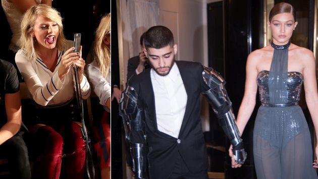 Taylor Swift hizo de 'violín' en cita de Zayn Malik y Gigi Hadid [FOTOS]