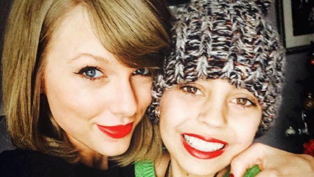 Taylor Swift cumplió el sueño de una fanática que padece cáncer [FOTOS]