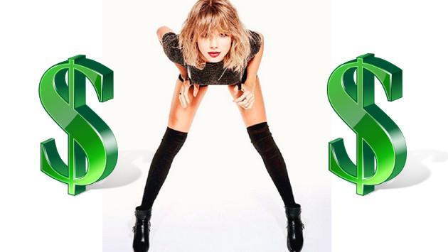 ¡Taylor Swift gana casi 1 millón de dólares al día!