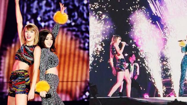 Taylor Swift y Charli XCX cantaron 'Boom Clap' en concierto [VIDEO]