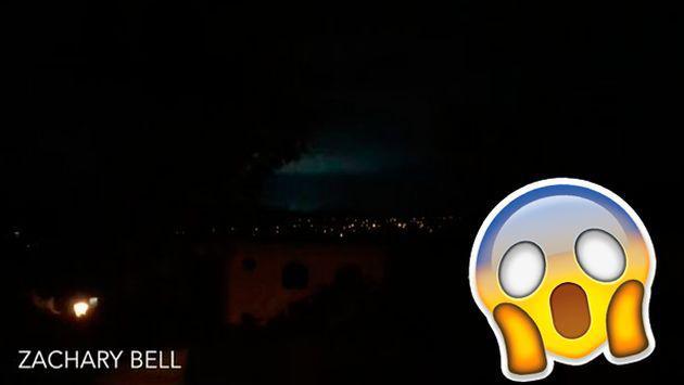 Durante terremoto en Nueva Zelanda, se registraron estas extrañas luces en el cielo [VIDEO]