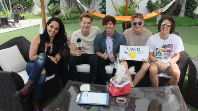 The Vamps antes de concierto en Lima: