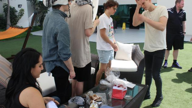 The Vamps antes de concierto en Lima: