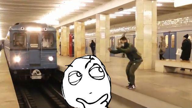 ¿Parkour extremo con un tren o falso viral? Mira este video