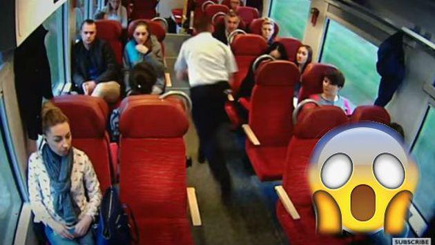 OMG! Tren estaba a punto de chocar y así reaccionó el conductor [VIDEO]