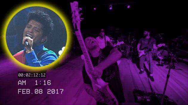 Video inédito de Bruno Mars preparándose para el tributo a Prince en los Grammy