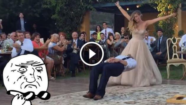 ¡Checa a este novio levitar el día de su boda! [VIDEO]