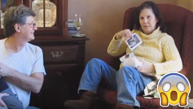 ¡No creerás cómo reaccionó esta mujer al enterarse de que será abuela! [VIDEO]
