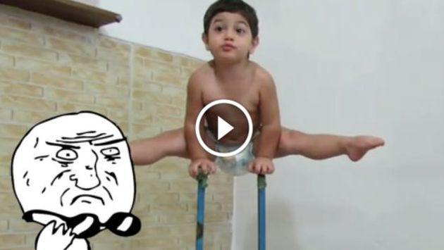 OMG! Bebé de 2 años hace increíbles acrobacias ¡Tienes que verlo! [VIDEO]