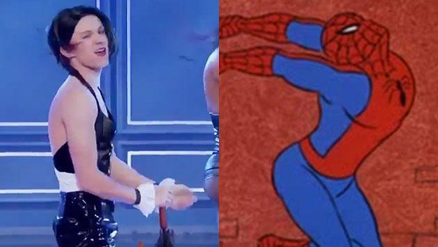 Y cómo olvidar la vez en que el nuevo 'Spiderman' se convirtió en Rihanna [VIDEO]