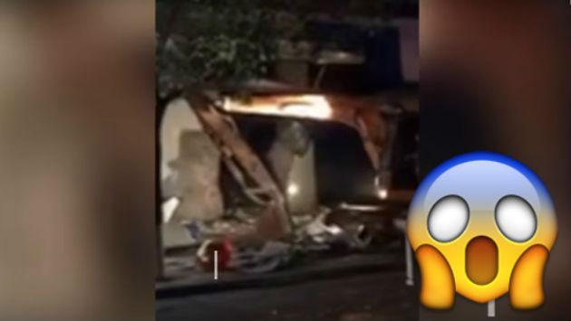 ¿Una excavadora para robar cajeros automáticos? Así le fue a este ladrón [VIDEO]