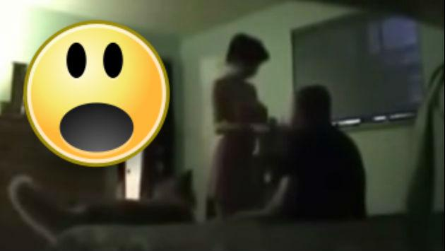 ¡Nooooo! Ocultó a una cámara en su casa y sorprendió a su esposa con...