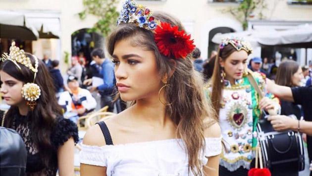 Zendaya compartió el detrás de cámaras de su primera campaña con Dolce & Gabbana [FOTOS]
