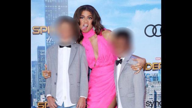 Zendaya presentó a sus sobrinos en la premiere de 'Spider-Man: Homecoming'