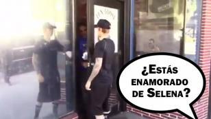 A Justin Bieber le preguntaron si aún ama a Selena Gomez en la calle y esto respondió [VIDEO]