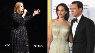 Adele no fue ajena a la separación de Angelina Jolie y Brad Pitt. ¡Mira lo que hizo por ellos! [VIDEO]