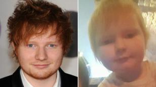 Ed Sheeran y su reacción al conocer a la bebé que se volvió viral porque se parece a él