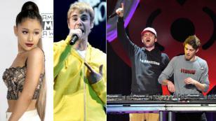 Así reaccionaron Ariana Grande, Justin Bieber y The Chainsmokers ante sus nominaciones a los Grammys [FOTO]