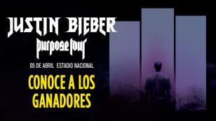 ¡Ell@s son l@s 15 ganador@s de una entrada doble para el concierto de Justin Bieber!