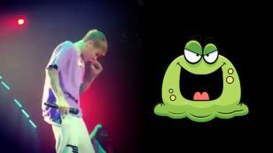 Justin Bieber llenó de mocos a su público en concierto [VIDEO]