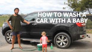 WTF?! ¿Cómo lavar un carro con un bebé? Este video se hizo viral