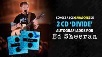 ¡Conoce a los ganadores del CD 'Divide' autografiado por Ed Sheeran!