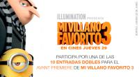 ¡Llévate una de las 10 entradas dobles para el avant premiere de 'Mi Villano Favorito 3'!