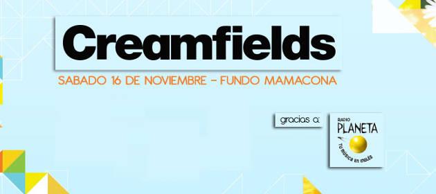 Ganadores del Creamfields Perú 2013