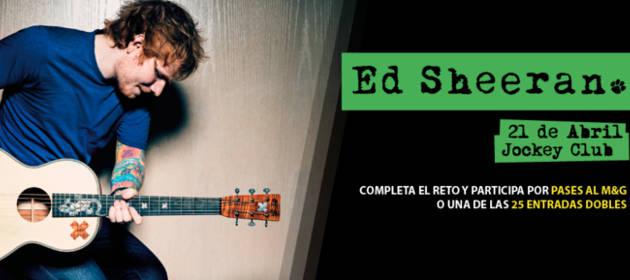 Gana entradas y Meet & Greet con Ed Sheeran ¡Participa!
