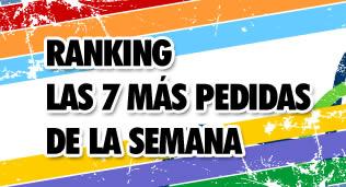 ranking las 7 mas pedidas