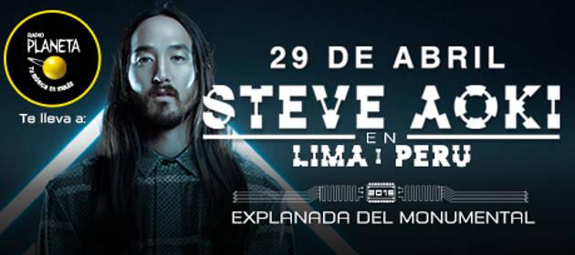 Participa por entradas dobles para el show de Steve Aoki en Lima