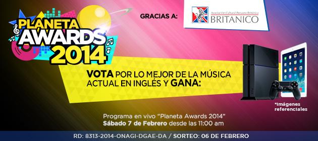 Participa y gana con el Planeta Awards 2014