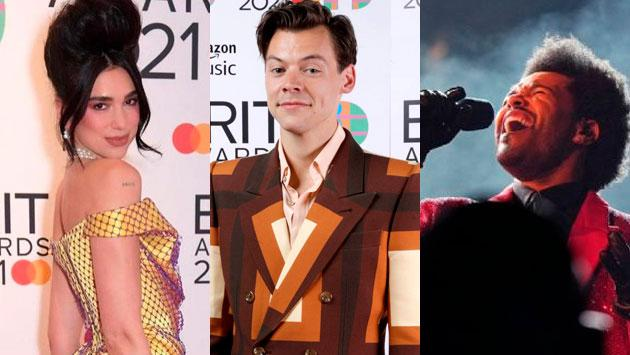 Dua Lipa, The Weeknd, Billie Eilish, y Taylor Swift fueron grandes ganadores en los Brit Awards 2021