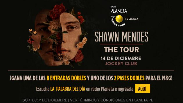 ¡Gana una de las 8 entradas dobles y 2 pases al Meet&Greet para el concierto de Shawn Mendes - 'The Tour'!