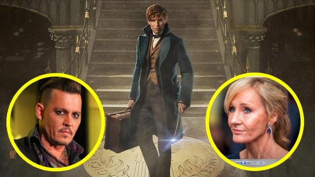 Incluir a Johnny Depp en 'Fantastic Beasts And Where To Find Them' le costó esto a J.K. Rowling