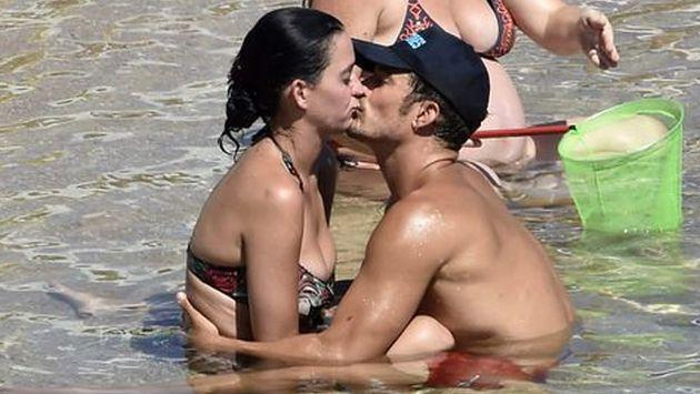 Orlando Bloom se pone 'muy cariñoso' con Katy Perry en la playa [FOTOS]