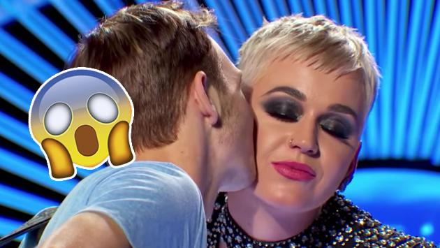 Katy Perry le robó un beso a un muchacho en American Idol [VIDEO]