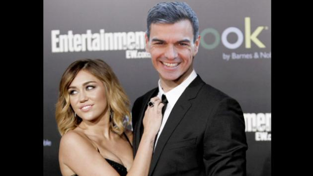 Miley Cyrus intercambia tweets con el presidente de España