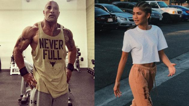 Zendaya, por primera vez, superó en ranking de actores a The Rock Dwayne Johnson