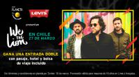 ¡Gana una entrada doble para ver a We The Lion en Chile + Pasaje + Hotel + Bolsa de viaje incluido!